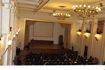 Пленарное заседание в Российском Государственном Социальном Университете